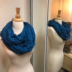 Bright blue infinity scarf